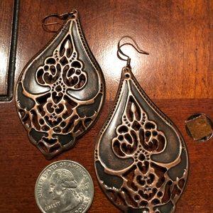 Solid Copper Earrings